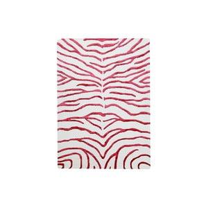 Ručne tkaný koberec Zebra, 122x183 cm, červený
