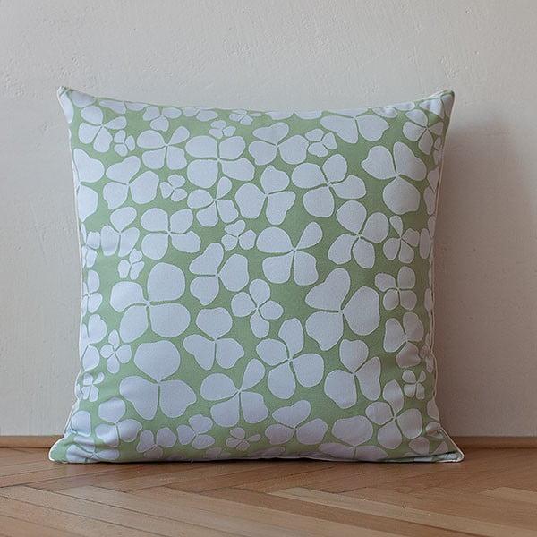Vankúš s výplňou Light Green Flowers, 50x50 cm