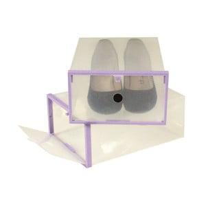 Sada 2 boxov na topánky s fialovým lemom Jocca, 28 x 20,7 cm