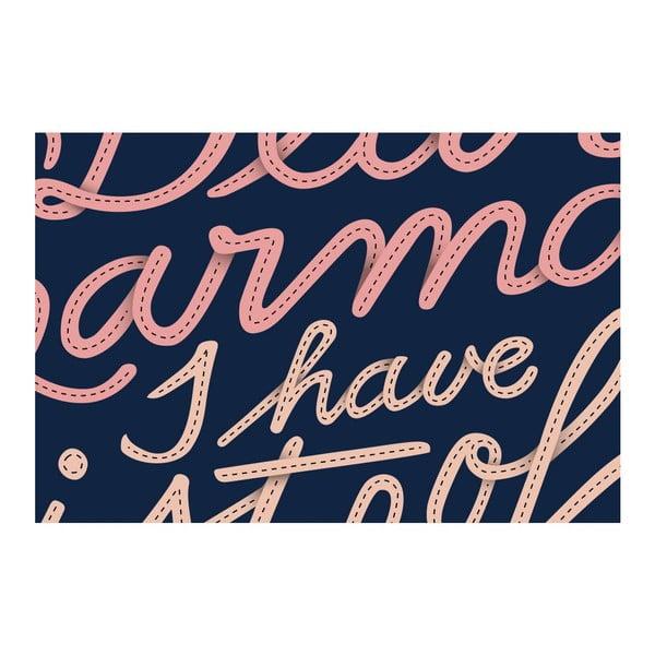 Plagát Dear Karma Pink, 42x42 cm