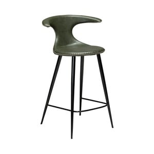 Tmavozelená barová stolička z eko kože DAN–FORM Denmark Flair