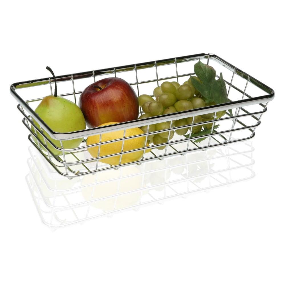 Oceľový košík na ovocie Versa Chrome, 32 × 18 cm