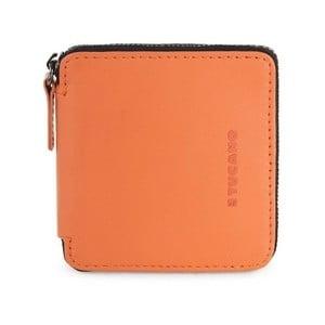 Oranžové puzdro na vizitky z talianskej kože Tucano Sicuro