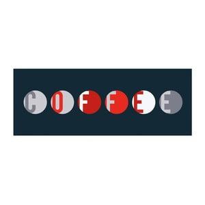Magnetická popisovacia tabuľa s perom a 4 magnetmi Eurographics Coffee