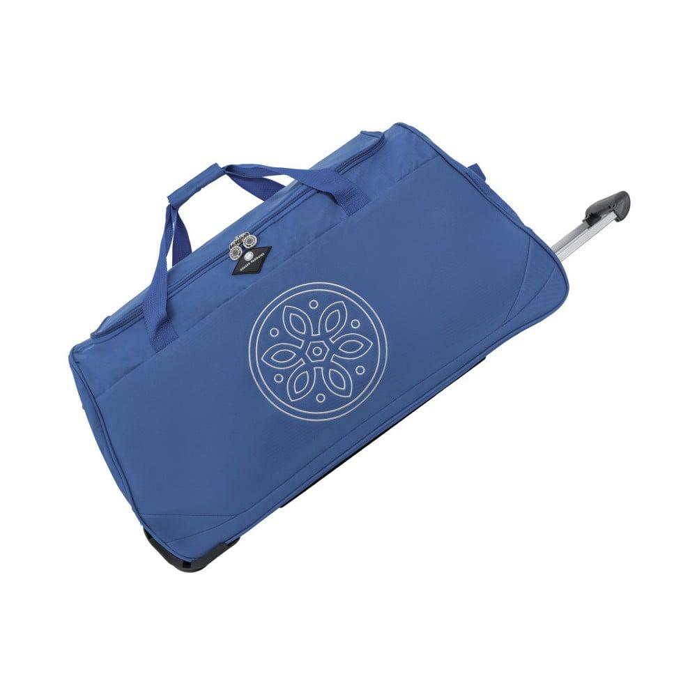 Modrá cestovná taška na kolieskach GERARD PASQUIER Miretto, 91 l
