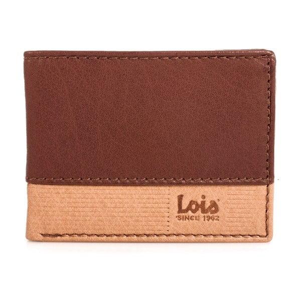 Kožená peňaženka Lois Natural, 11x8 cm
