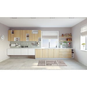 Vysokoodolný kuchynský behúň Webtappeti Keylove, 60 x 240 cm