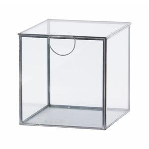 Sklenený box Agape Silver, 19 cm