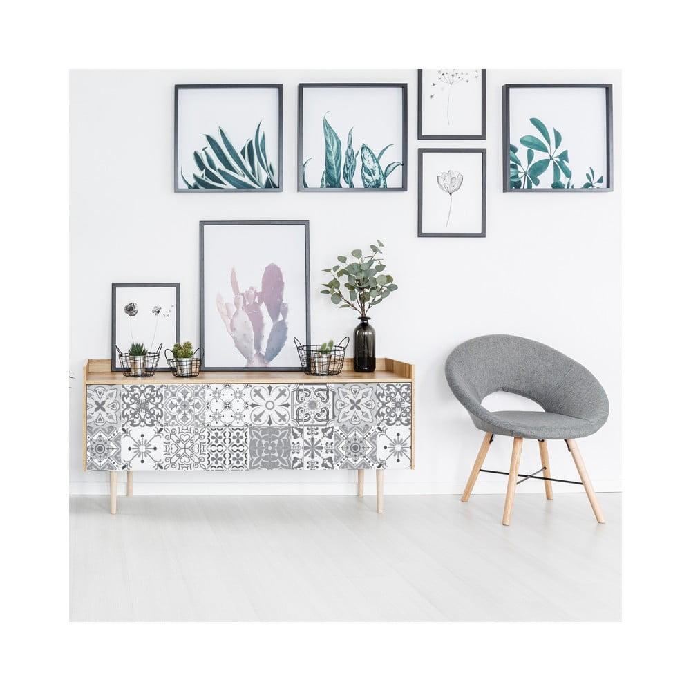 Sada 24 samolepiek na nábytok Ambiance Tiles Stickers For Furniture Cerena, 15 × 15 cm