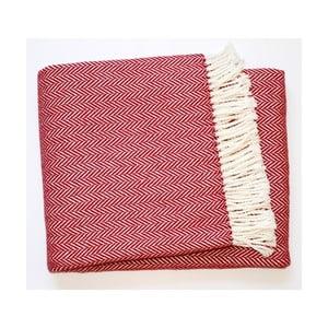 Červená deka Euromant Skyline, 140x180cm