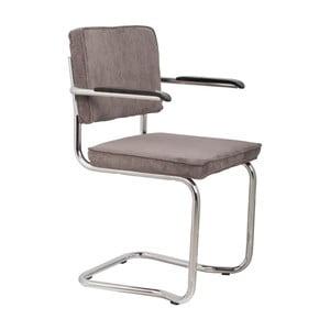 Sada 2 sivých stoličiek s opierkami Zuiver Ridge Kink Rib