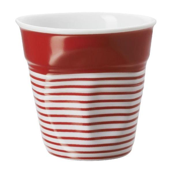 Pohárik na espresso Froisses 8 cl, červeno-biely