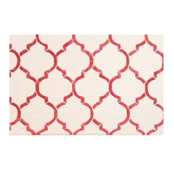 Ručne tuftovaný koberec Bakero Chain Red, 122 x 183 cm
