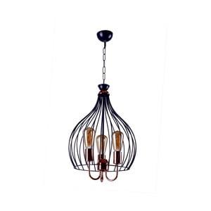 Stropné závesné svietidlo Birdcage Black