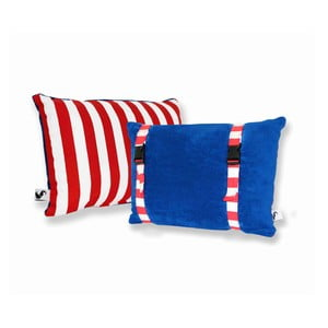 Vodeodolný, obojstranný vankúšik Dream Pillow Atlantic Red Stripes