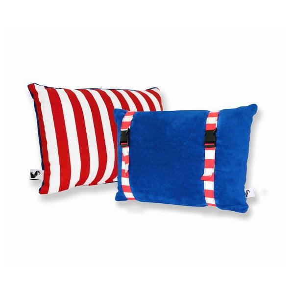 Vodeodolný, obojstranný vankúšik Dream Pillow Atlantic Red Stripes
