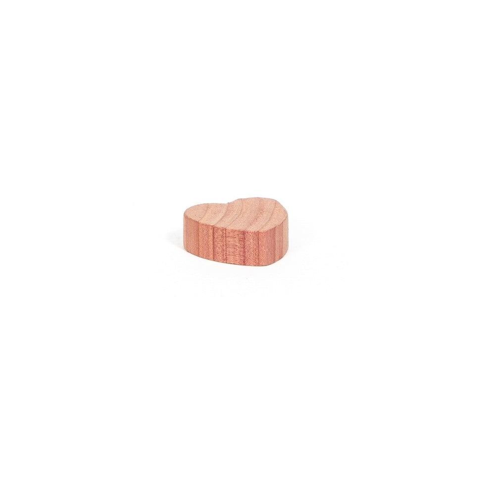 Sada 15 srdiečok z cédrového dreva do šatníkovej skrine Compactor