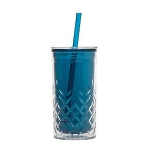 Petrolejovozelený pohárik so slamkou Aladdin, 470ml