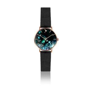 Dámske hodinky s remienkom z antikoro ocele v čiernej farbe Emily Westwood Dream