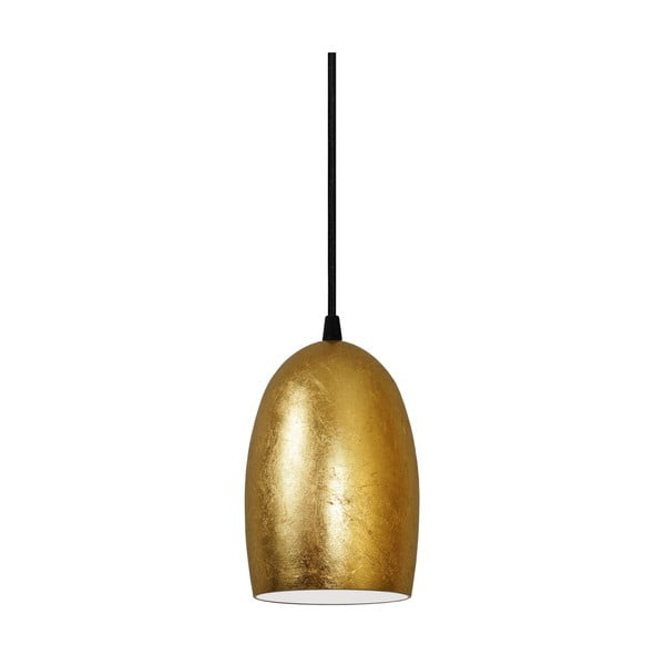 Zlaté závesné svietidlo s čiernym káblom Sotto Luce UME