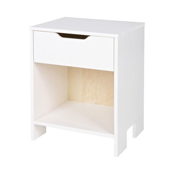 Biely nočný stolík DeEekhoorn Nikki
