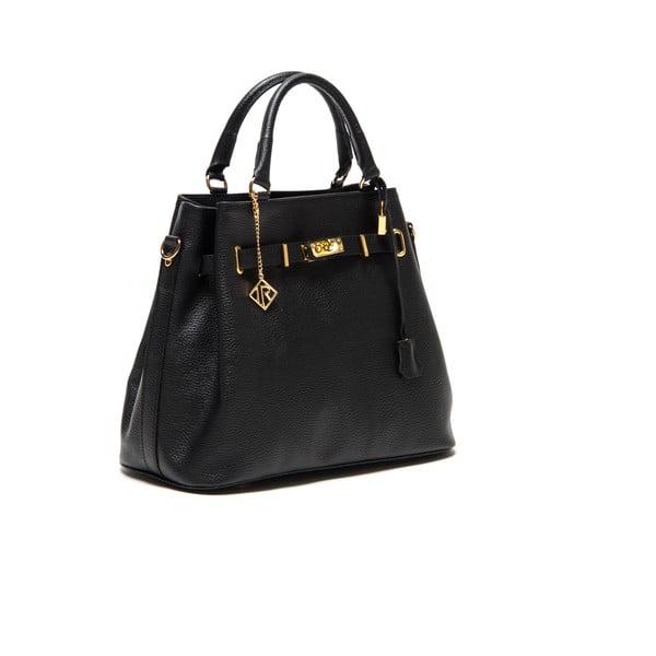 Čierna kožená kabelka Isabella Rhea no.183