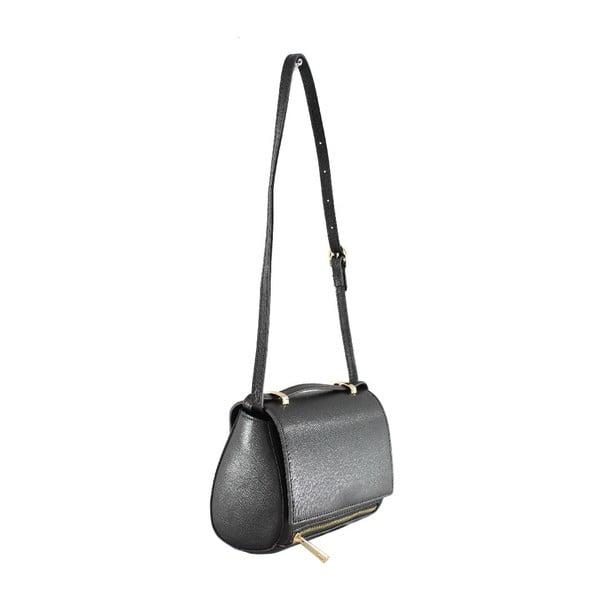 Kožená taška cez rameno Sonja, čierna