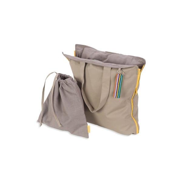 Skladací sedák Hhooboz 100x50 cm, béžový