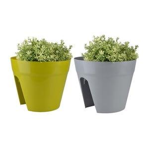 Sada 2 kvetináčov na zábradlie balkóna Magic