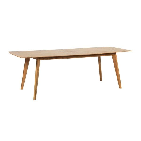 Dubový rozkladací jedálenský stôl Folke Frey, dĺžka 190 cm