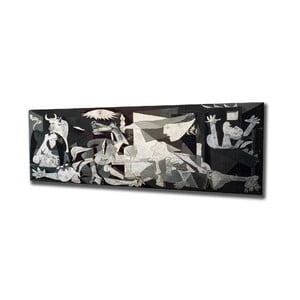 Nástenná reprodukcia na plátne Pablo Picasso Guernica, 80 × 30 cm