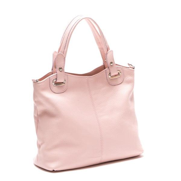Kožená kabelka Luisa Vanini 1103, ružová