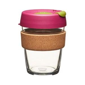 Cestovný hrnček s vrchnákom KeepCup Brew Cork Edition Cinnamon, 340 ml