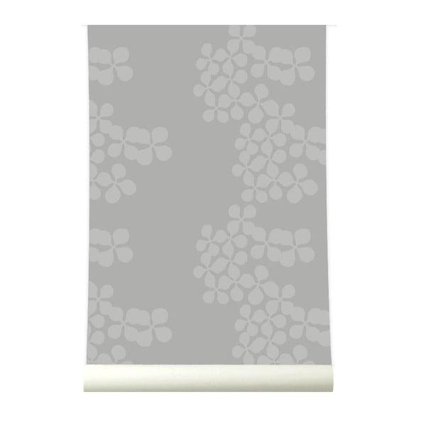Tapeta Flowerchain Grey