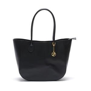 Kožená kabelka Cuco, čierna