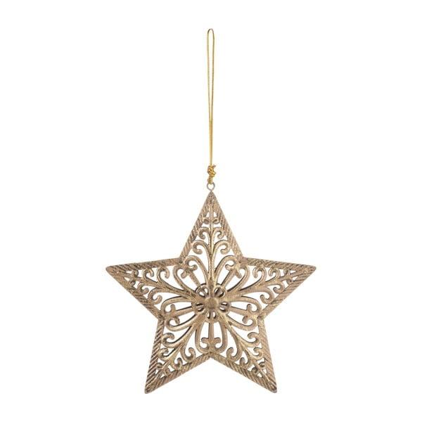 Závesná dekoratívna hviezda Antic, Ø15 cm