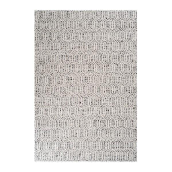 Sivý koberec s prídavkom vlny Justin, 170x240cm
