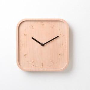 Čierne hodiny z bukového dreva Qualy&CO Allday Square