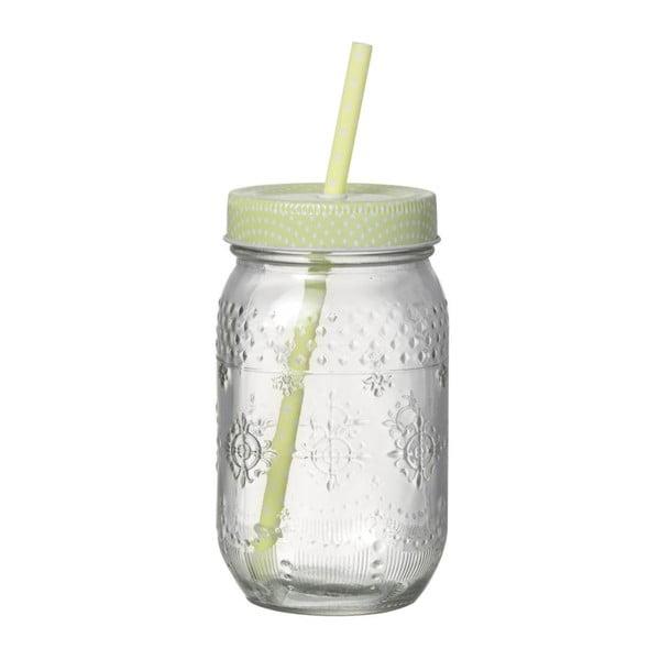 Svetlozelený pohár so slamkou Parlane Straw Green