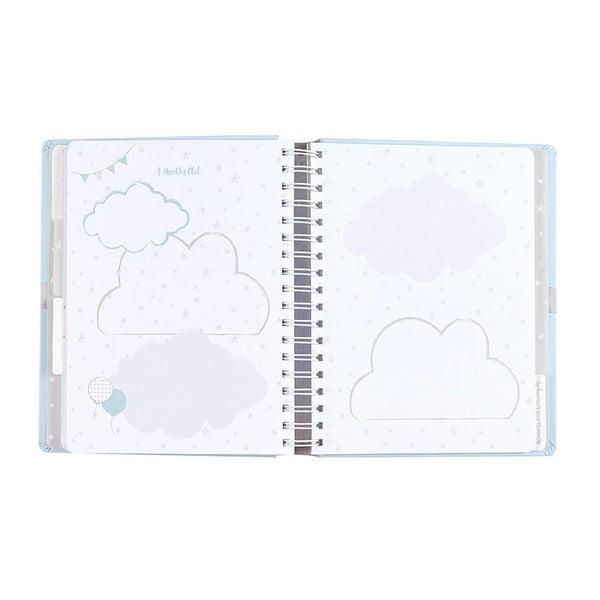 Modrý denník bábätka Busy B