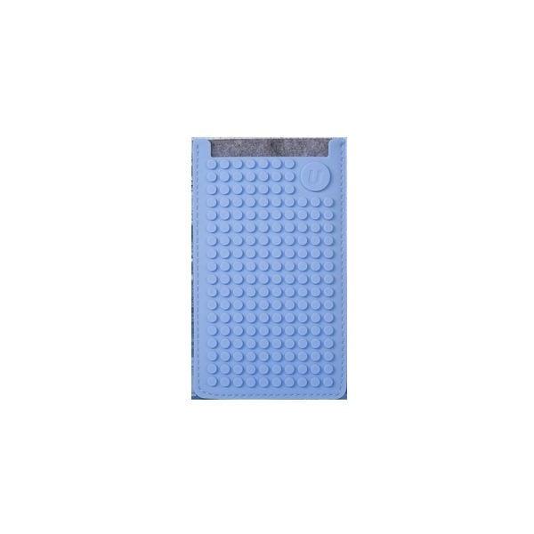 Univerzálny malý obal na telefón Pixel Art, grey/sky blue