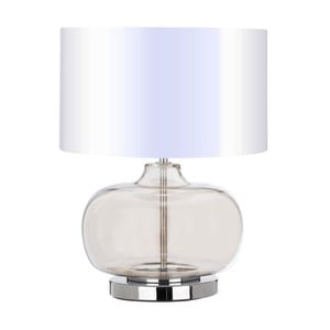 Stolová lampa s bielym tienidlom Light Prestige Milazzo