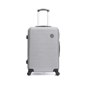 Cestovný kufor na kolieskách striebornej farby BlueStar Porto, 39 l