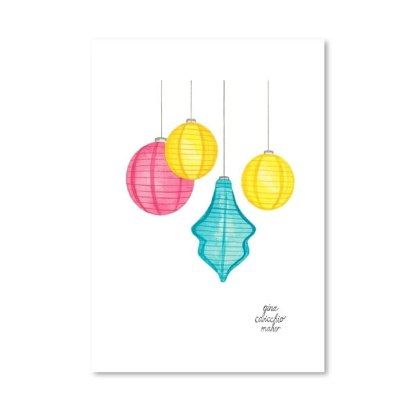 Autorský plagát Paper Lanterns, 30x42 m