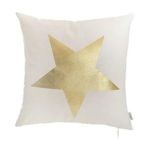 Biela obliečka na vankúš Apolena Star, 45 x 45 cm