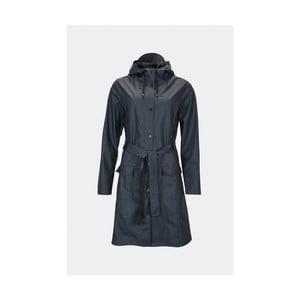 Tmavomodrý dámsky plášť s vysokou vodeodolnosťou Rains Curve Jacket 6ebd95b697c