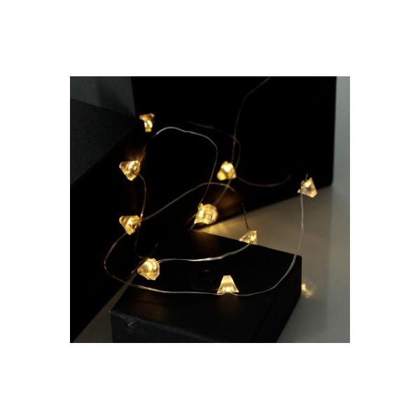 Svetelná LED reťaz Best Season String Diamond, 12svetielok