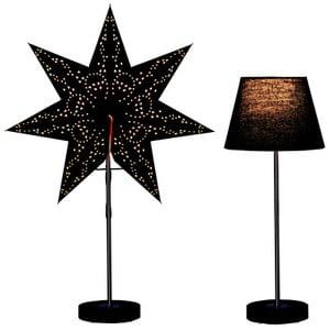 Set svietiacej lampy a hviezdy Best Season Black