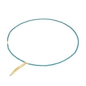Tyrkysový dámsky náhrdelník Tassioni Feather
