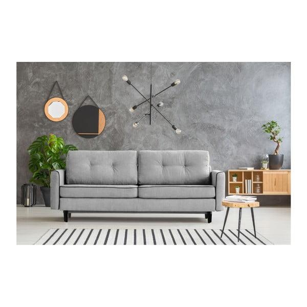 Sivá rozkladacia pohovka s čiernymi nohami Mazzini Sofas Magnolia